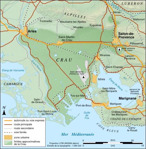 Carte du Crau