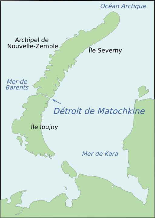 Carte du détroit de Matochkin