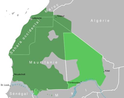 Carte du dialecte Hassanya en Afrique