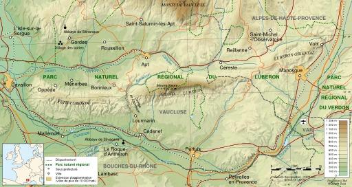 Carte du Luberon