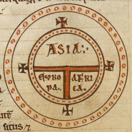 Carte du monde, au 12° siècle