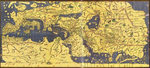 Carte du monde d'Al-Idrisi inversée