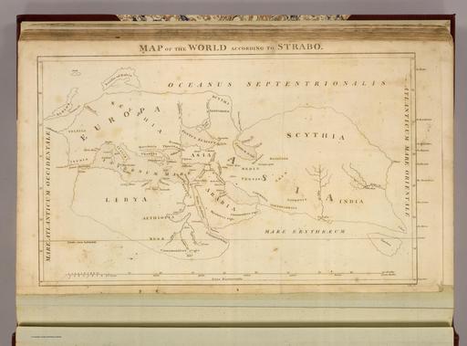 Carte du monde d'après Strabon