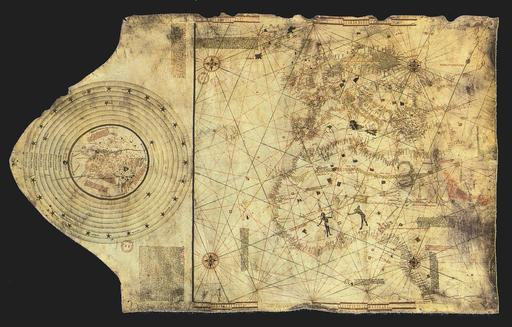 Carte du monde de Christophe Colomb vers 1490