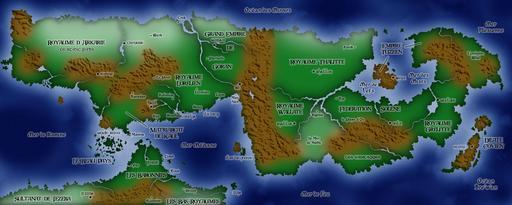 Carte du monde de Ji