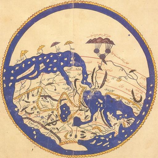 Carte du monde en 1154