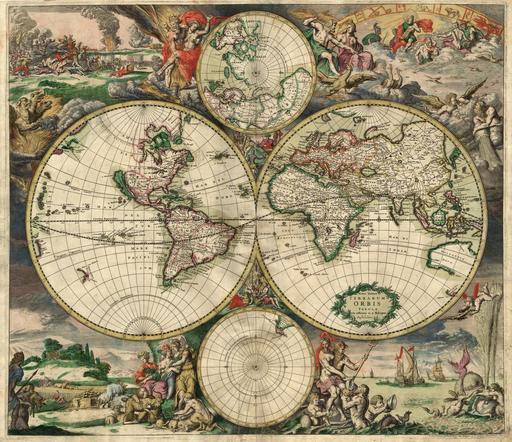 Carte du monde en 1689