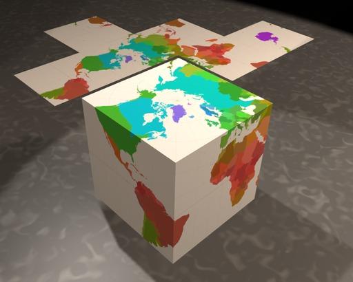 Carte du monde en cube