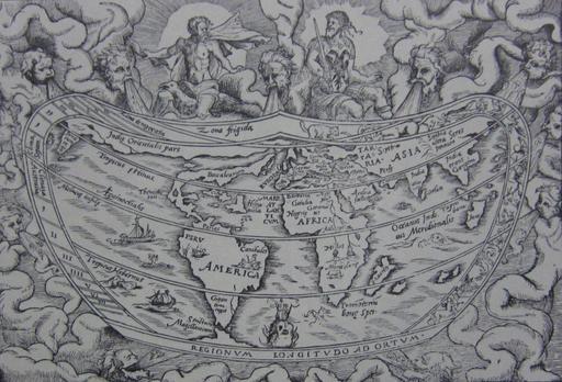 Carte du monde en latin en 1544