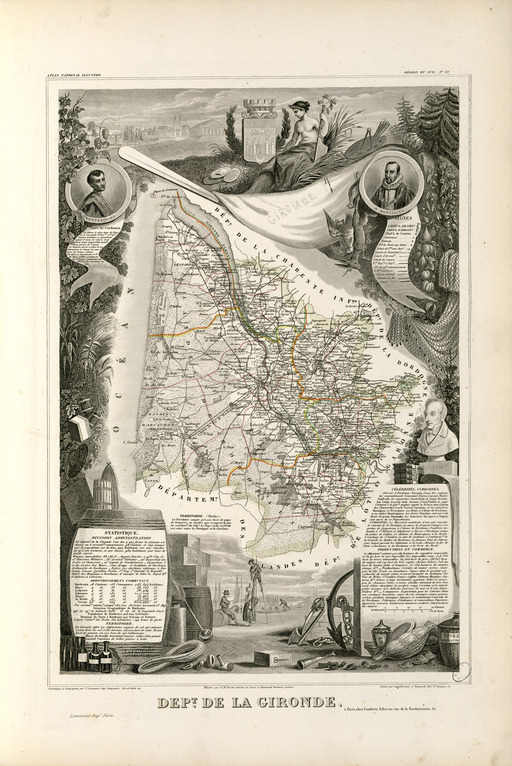 Carte du sud-Gironde