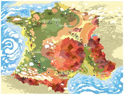 Carte du Tour de France