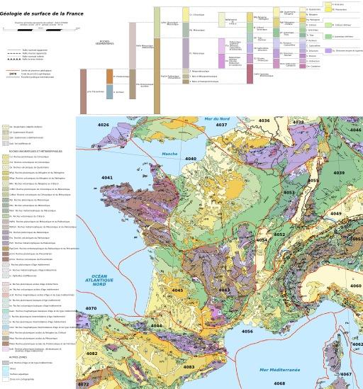 Carte géologique de la France