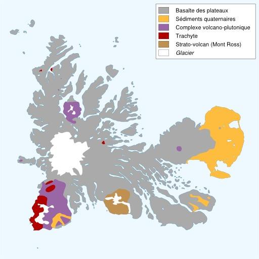 Carte géologique des îles Kerguelen