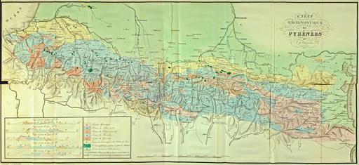 Carte géologique des Pyrénées