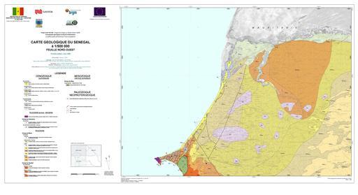 Carte géologique du Nord-Ouest du Sénégal