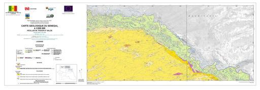 Carte géologique du Sénégal - de Podor à Saldé