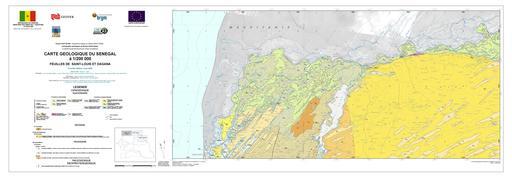 Carte géologique du Sénégal - de Saint-Louis à Dagana