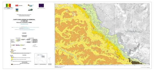 Carte géologique du Sénégal - Zone de Matam Semmé