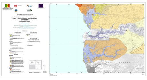Carte géologique du Sud-Ouest du Sénégal