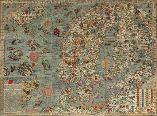 Carte marine de la Scandinavie