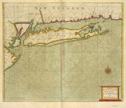 Carte marine du littoral new-yorkais