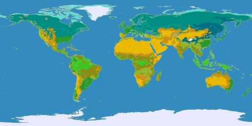 Carte mondiale des climats