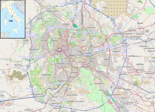 Carte OSM de Rome