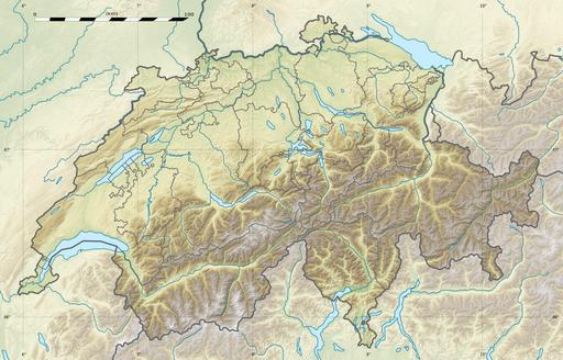 Carte physique de la Suisse