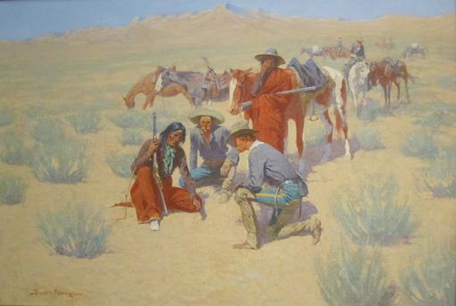 Carte sur le sable du désert