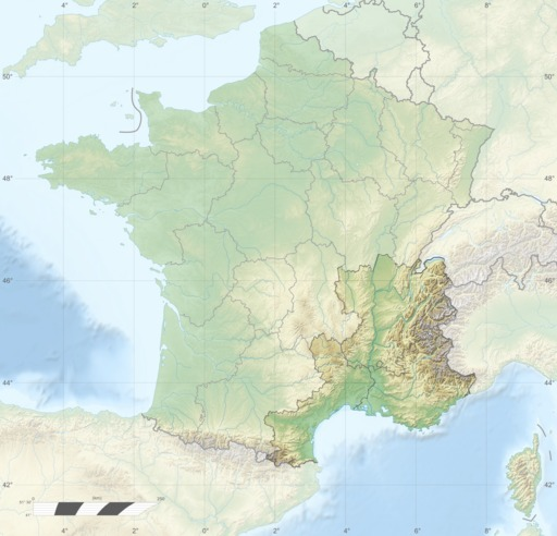 Carte topographique du grand Sud-Est