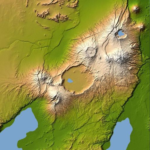 Carte topographique du Ngorongoro en Tanzanie