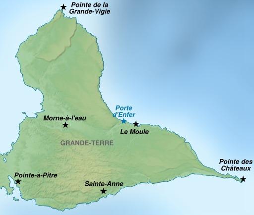 Carte touristique de l'île de Grande-Terre