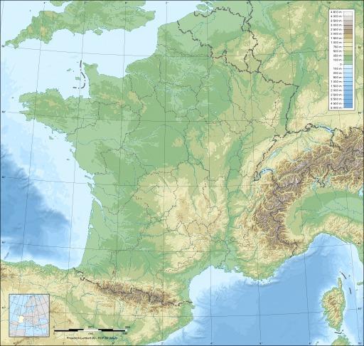 Carte vierge de la France avec régions