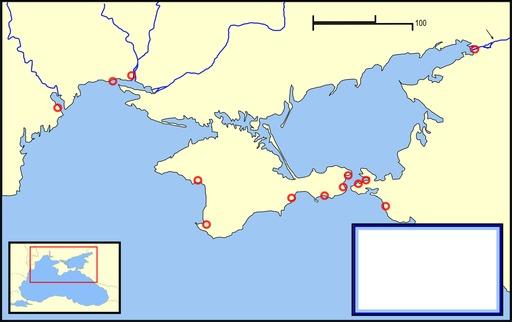 Carte vierge des anciennes colonies grecques