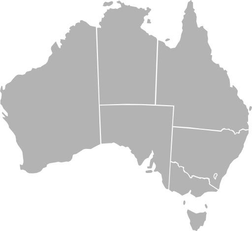 Carte vierge des états australiens