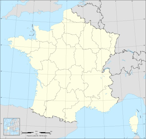 Carte vierge des régions de France métropolitaine