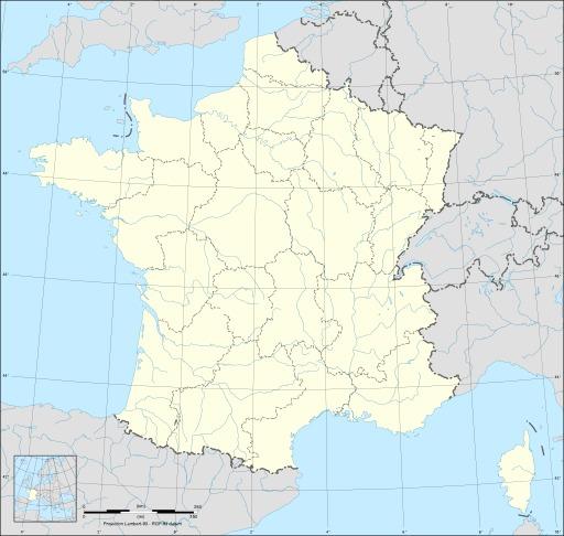 Carte vierge des régions de France métropolitaine avec cours d'eau
