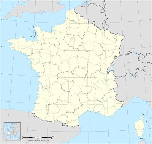 Carte vierge des régions et départements de France métropolitaine