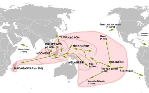 Cartographie de l'expansion des langues austronésiennes