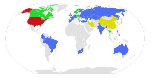 Cartographie de la date dans le monde