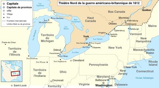 Cartographie de la guerre anglo-américaine de 1812