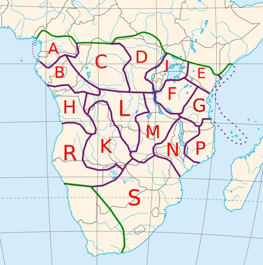 Cartographie des langues bantoues