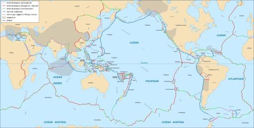 Cartographie des plaques tectoniques