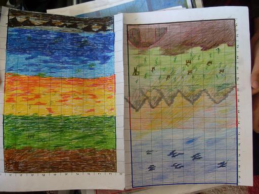 Cartons de tapis iraniens