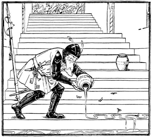 Cendrillon, les escaliers du palais