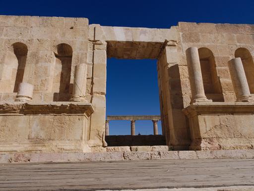 Centre de la scène du Théâtre Nord de Jerash