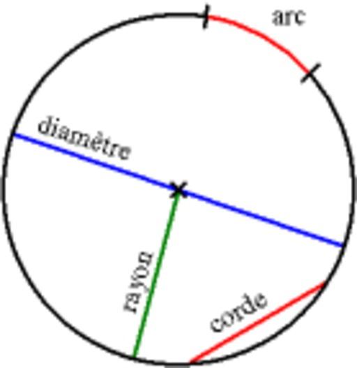 Cercle et son vocabulaire