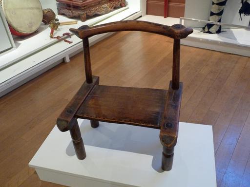Chaise en bois de Côte d'Ivoire