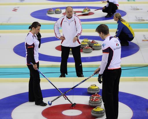 Champions du monde hongrois de curling
