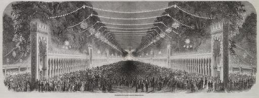 Champs-Élysées illuminés en 1853